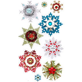 Embellished Snowflake Stickers_50-50617