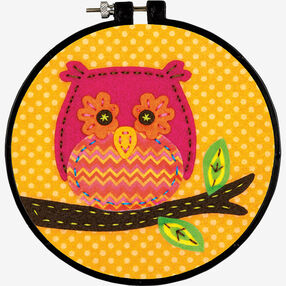Little Owl in Felt Applique_72-74061