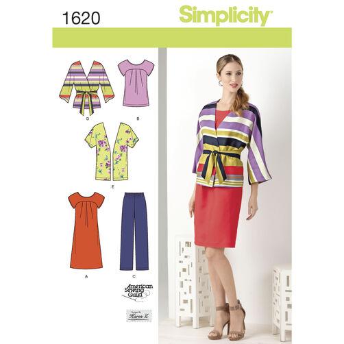 Simplicity Pattern 1620 Misses' & Plus Size Dress & Separates
