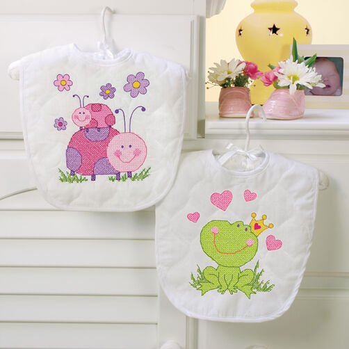 Fairy Bibs, Stamped Cross Stitch_70-73542