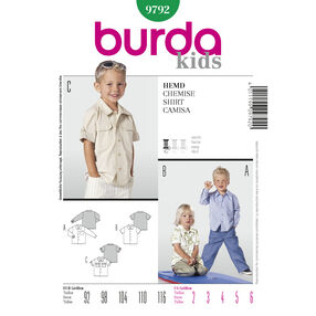 Burda Style Pattern 9792 Shirt