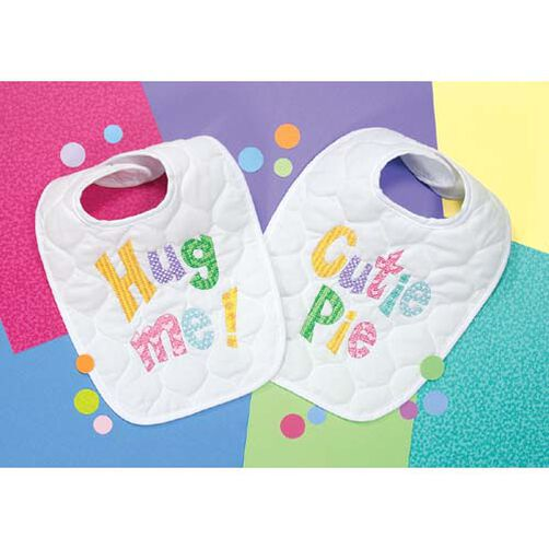Cutie Patootie Bibs, Stamped Cross Stitch_73102