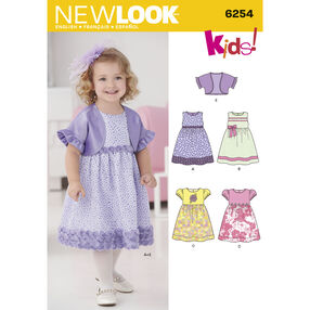 New Look Pattern 6254 Toddlers' Dress and Bolero