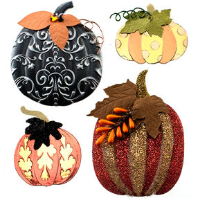 Metallic Pumpkin Stickers_50-21563