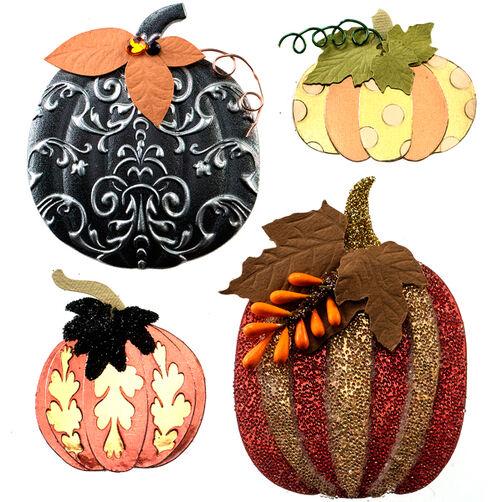 Metallic Pumpkin Stickers_50-21563