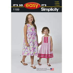 It's So Easy Pattern 1189 Dress for Children