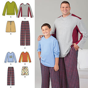 Husky Boys' & Big & Tall Men's Tops and Pants