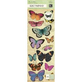 Brenda Walton Flora & Fauna Butterfly Adhesive Chipboard_30-599635