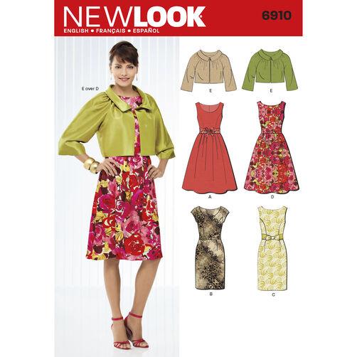 New Look Pattern 6910 Misses Dresses
