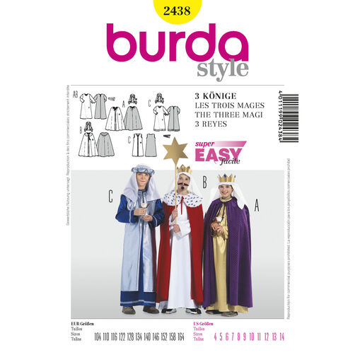 Burda Style Pattern 2438 3  Holy Kings