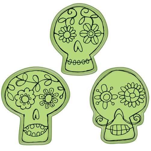 Whimsical Skulls Cling Stamps_60-60288