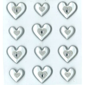 Silver Hearts Cabochons_50-20890