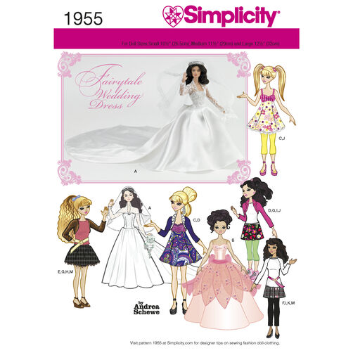 Simplicity Pattern 1955 Doll Clothes