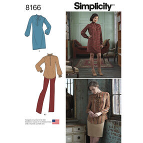 Pattern 8166 Misses' Dress or Tunic, Skirt and Pant
