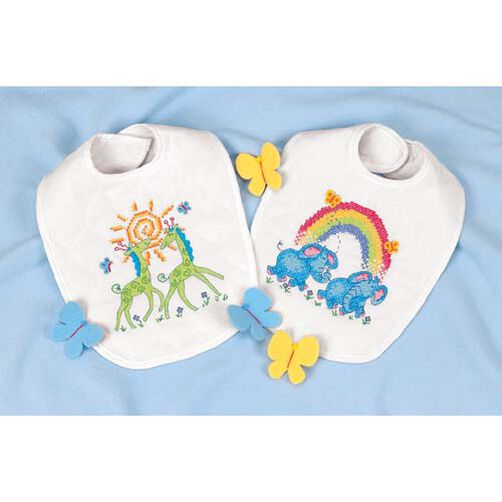Noah's Ark Bibs, Stamped Cross Stitch_73126
