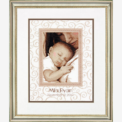 Peaceful Baby Birth Record in Counted Cross Stitch_70-73992