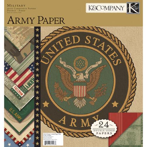 Army 12x12 Paper Pad_625068