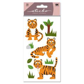 Tiger Glitter Classic Stickers_SPLFB30
