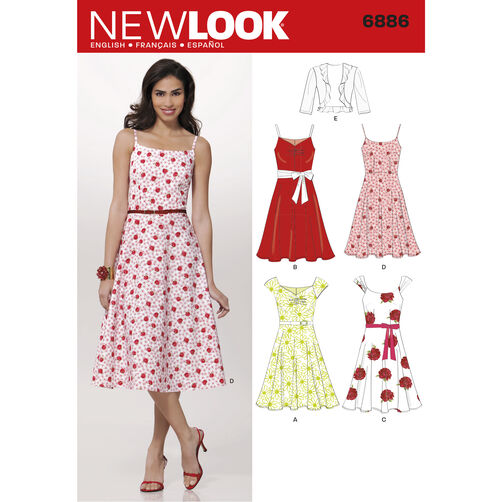New Look Pattern 6886 Misses Dresses
