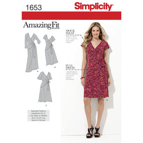 Simplicity Pattern 1653 Misses' & Plus Sizes Amazing Fit Knit Dress