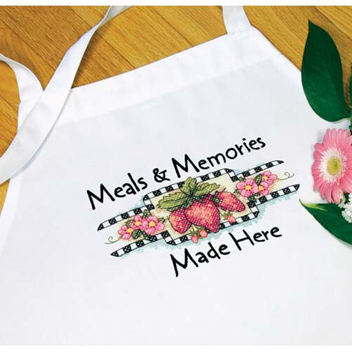 Meals & Memories Apron, Stamped Cross Stitch_73518