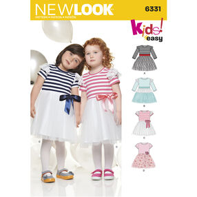 New Look Pattern 6331 Toddlers' Dress with Knit Bodice