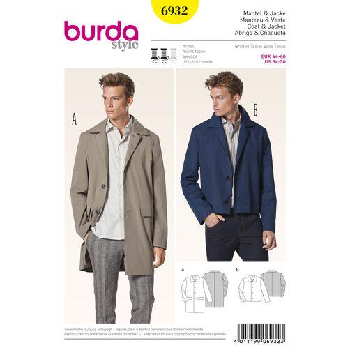 Burda Style Pattern 6932 Menswear