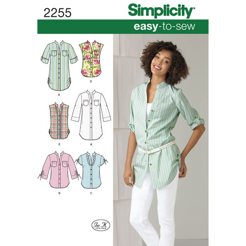 Simplicity Pattern 2255 Misses' Easy-to-Sew Tunic or Shirt