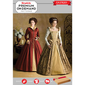 Simplicity Pattern EA378201 Premium Print on Demand Costume Pattern