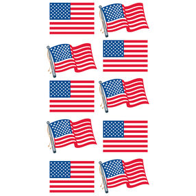 Waving Flags  Metallic Stickers_52-00339