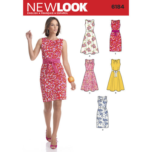 New Look Pattern 6184 Misses' Dresses
