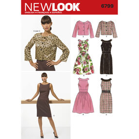 New Look Pattern 6799 Misses Dresses