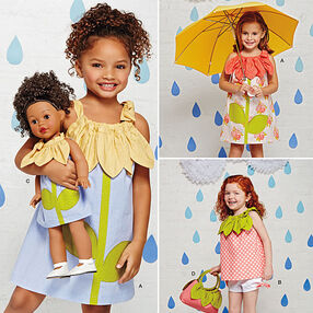 Child's Sportswear Pieces with Matching Doll Dress