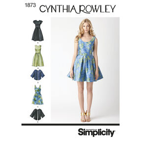 Simplicity Pattern 1873 Misses' & Miss Petite Dresses Cynthia Rowley Collection