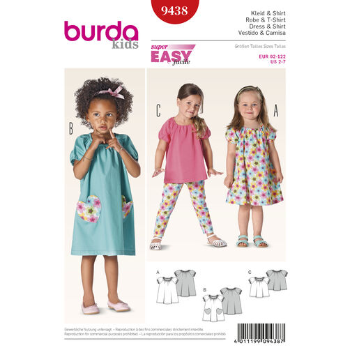 Burda Style Pattern 9438 Toddlers