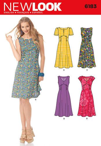 Misses' Retro Style Dress