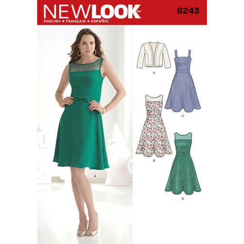 New Look Pattern 6243 Misses' Dress and Bolero