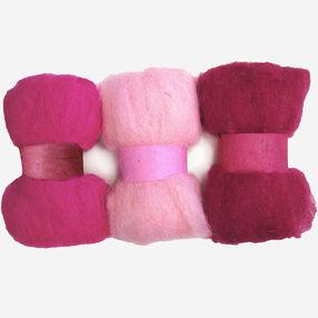 Pinks Wool Roving Trio, Needle Felting_72-74012