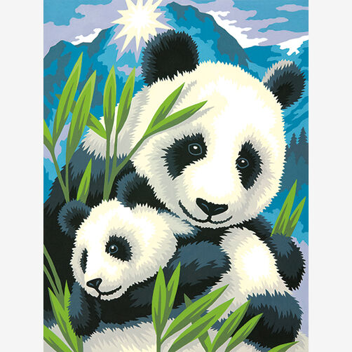 Panda and Cub, Paint by Number_73-91456