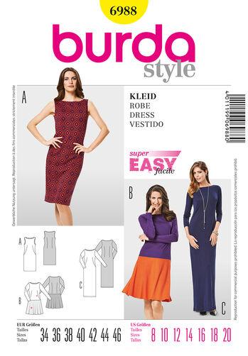 Burda Style Pattern 6988 Dress