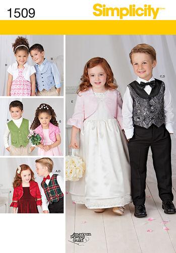 Child's Vest, Bolero and Bow Tie