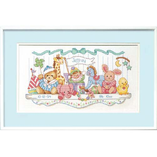 Toy Shelf Birth Record, Counted Cross Stitch_03729