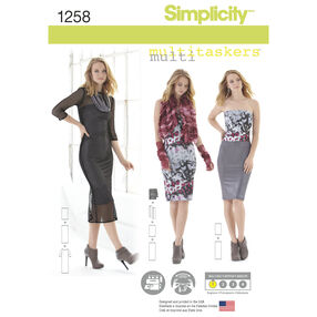 Simplicity Pattern 1258 Misses' Easy Knit Pieces, Multitaskers Collection.