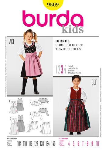 Burda Style Pattern 9509 Dirndl Dress
