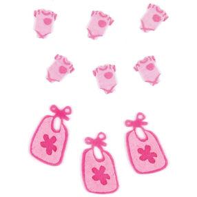 Baby Girl Pajamas and Bib Embellishments_50-00444