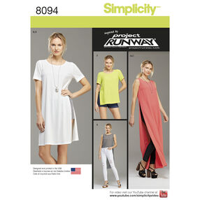Simplicity Pattern 8094 Misses/Miss Petite Tunic With Length Variations, Shorts And Knit Leggings