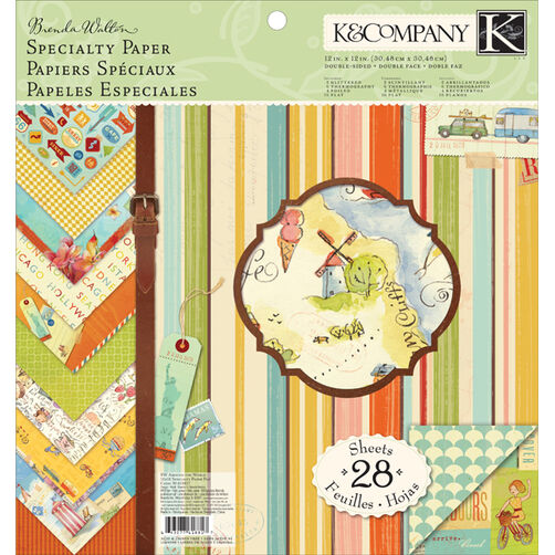 Brenda Walton Around the World 12x12 Specialty Paper Pad_30-618817