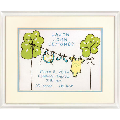 Clothesline Birth Record, Embroidery_71-73819