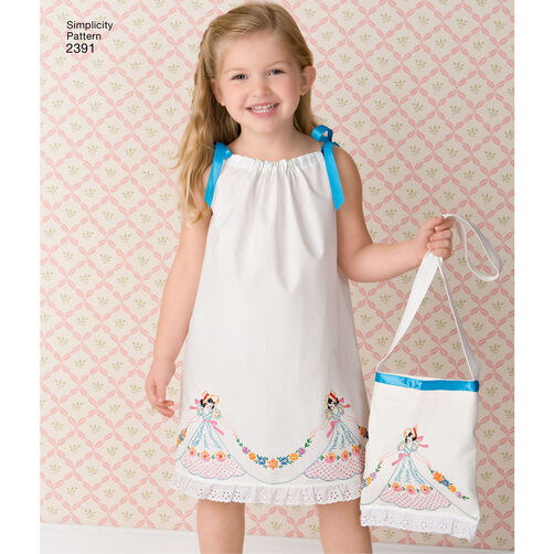 Pattern For Child S Vintage Pillow Case Fashion Simplicity
