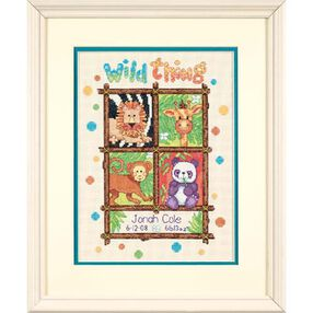 Wild Thing Birth Record, Counted Cross Stitch_73250